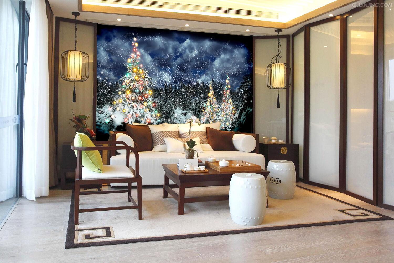 3D schönen weihnachtsbaum Fototapeten Wandbild Fototapete BildTapete Familie DE