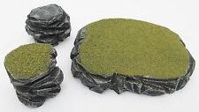 Warhammer 40k Tabletop WarGaming Terrain Scenery Grey Stone Plateau & Rocks SetC