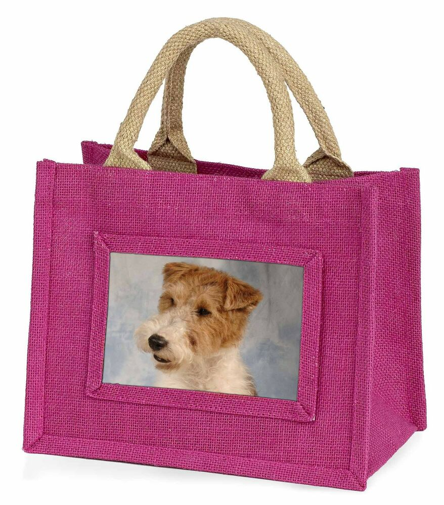 Responsable Fox Terrier Dog Little Girls Small Pink Shopping Bag Christmas Gift, Ad-wht1bmp Facile à Utiliser