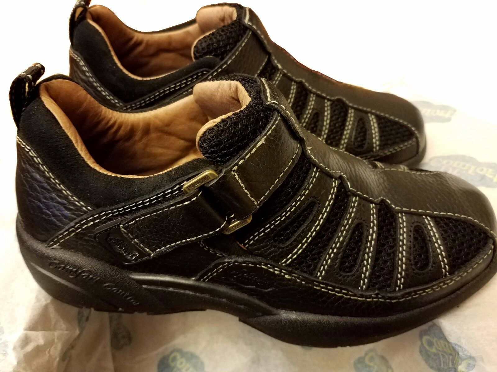 5c2a47802a334d Dr. Comfort Genuine Genuine Genuine Leather Men s shoes BEACH COMBER Black  Multiple Sizes NIB a11520 ...