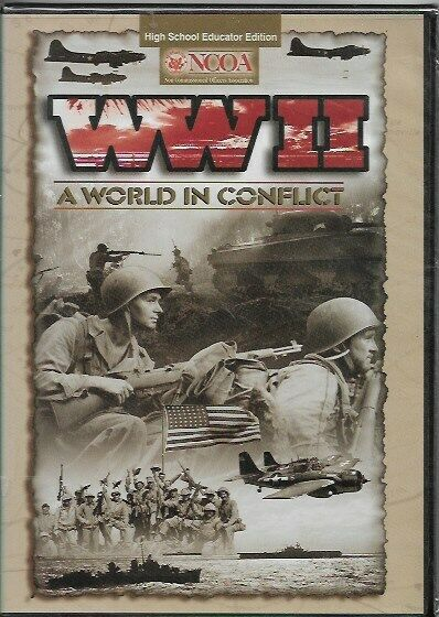 World War II: A World In Conflict (DVD, 2005) High School Educator Edition  ~NEW