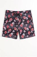 Wesc Allover Floral Mens Black Print Boardshorts