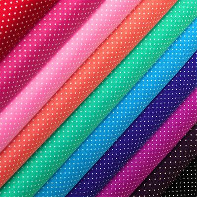 100% Cotton Print Fabric FQ 1MM. Retro Classic Polka Dot Circle Spot Vintage VA9