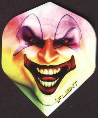 Sinister Clown Dart Flights: 3 per set