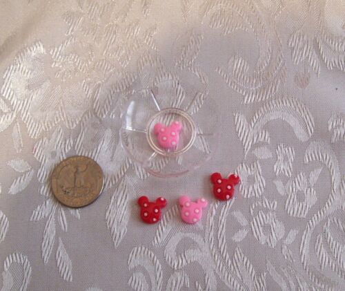 DOLL 1//6 SCALE KITCHEN FOOD LOT OF 4 MOUSE EARS COOKIES WITH PLATE 1//6 LITTLES