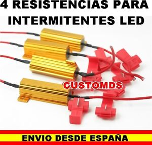 4-RESISTENCIAS-50W-6OHM-12V-PARA-FALLO-ERROR-LAMPARA-LED-COCHE-INTERMITENTE-MOTO
