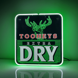 TOOHEYS EXTRA DRY Traditional Vintage Glass Neon Sign (not LED Neon) .... SALE