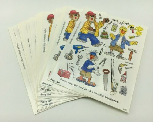 Suzy/'s Zoo Scrapbooking Stickers 25 Sheets Mr Fix It Father Dad Tools Hammer DIY