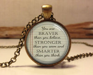 Winnie the pooh quote necklacespirational quote pendant jewelry image is loading winnie the pooh quote necklace inspirational quote pendant aloadofball Choice Image