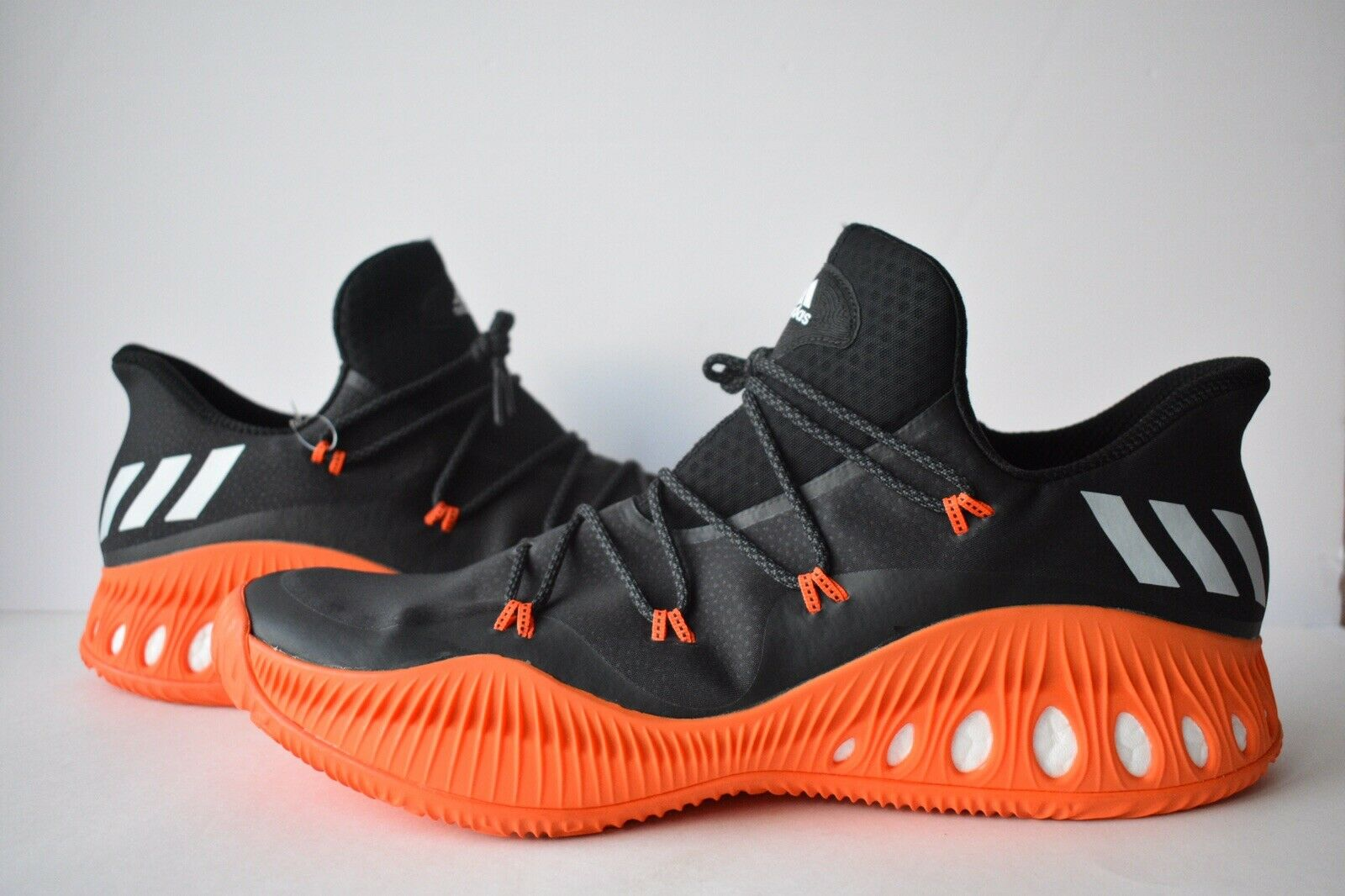New Adidas Crazy Explosive Low BY4279 Black orange Basketball shoes Men's Size 19