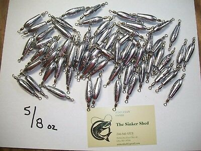 FREE SHIP 1//2 oz Trolling Sinkers with #7 Nickel Crane Swivels CHOOSE QUANTITY