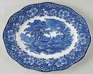 """Wedgwood WOODLAND 13 7//8/"""" Oval Serving Platter 2193494"""