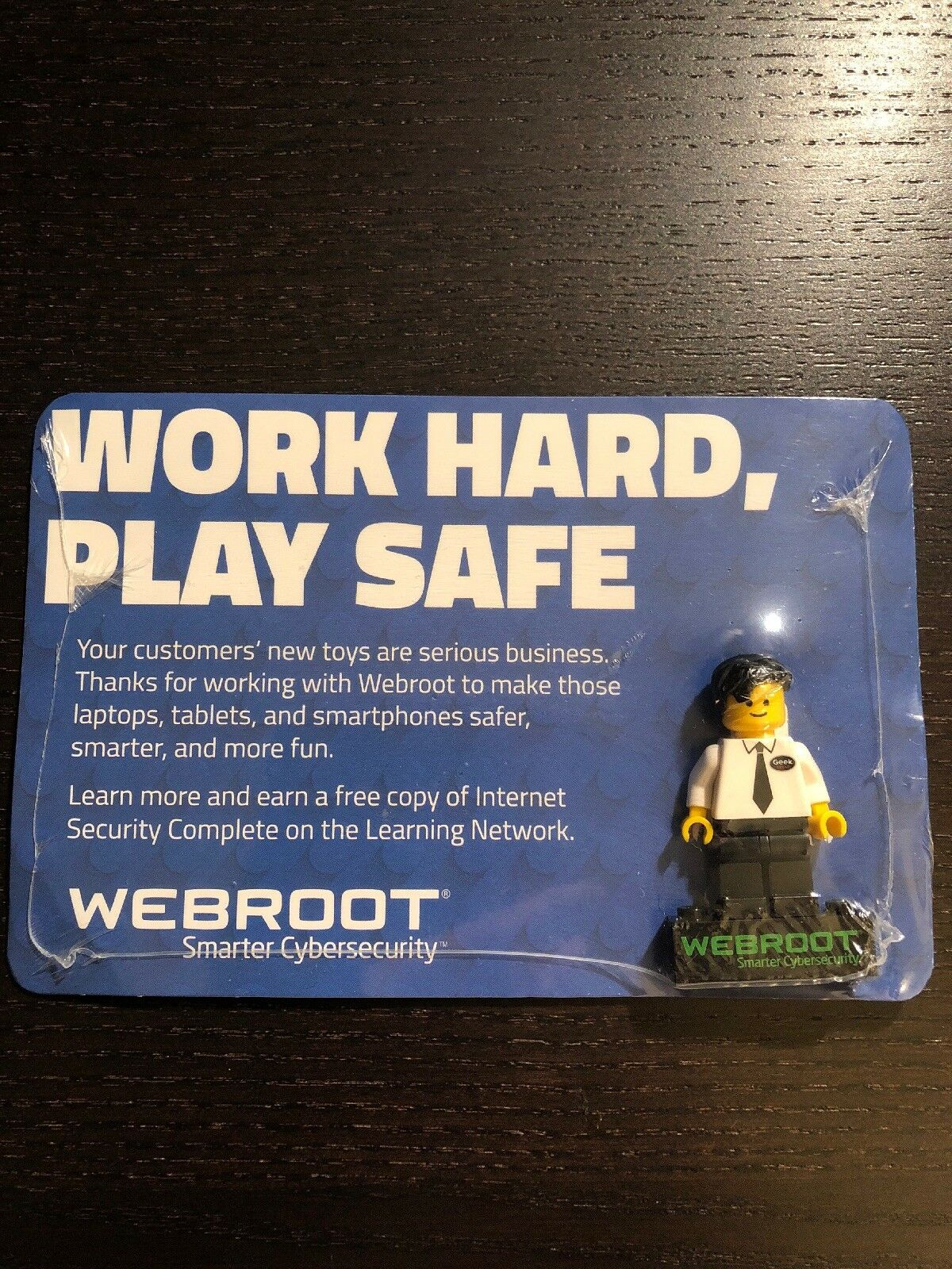 Lego Webroot Best Buy Geek Squad Mini Figure BRAND NEW