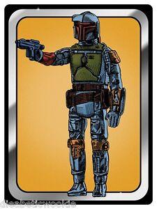 star wars empire boba fett vintage kenner figure art print poster hasbro mondo | ebay