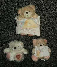 3 x Forever Friends teddy bears. Vgc
