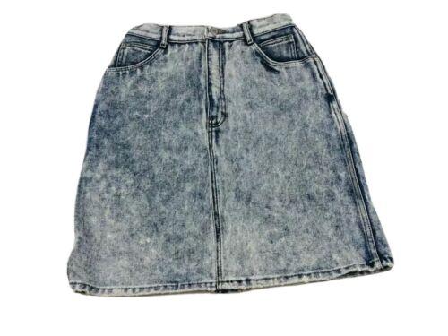 Vintage Jordache Size 11 Skirt High Waist Denim Ac