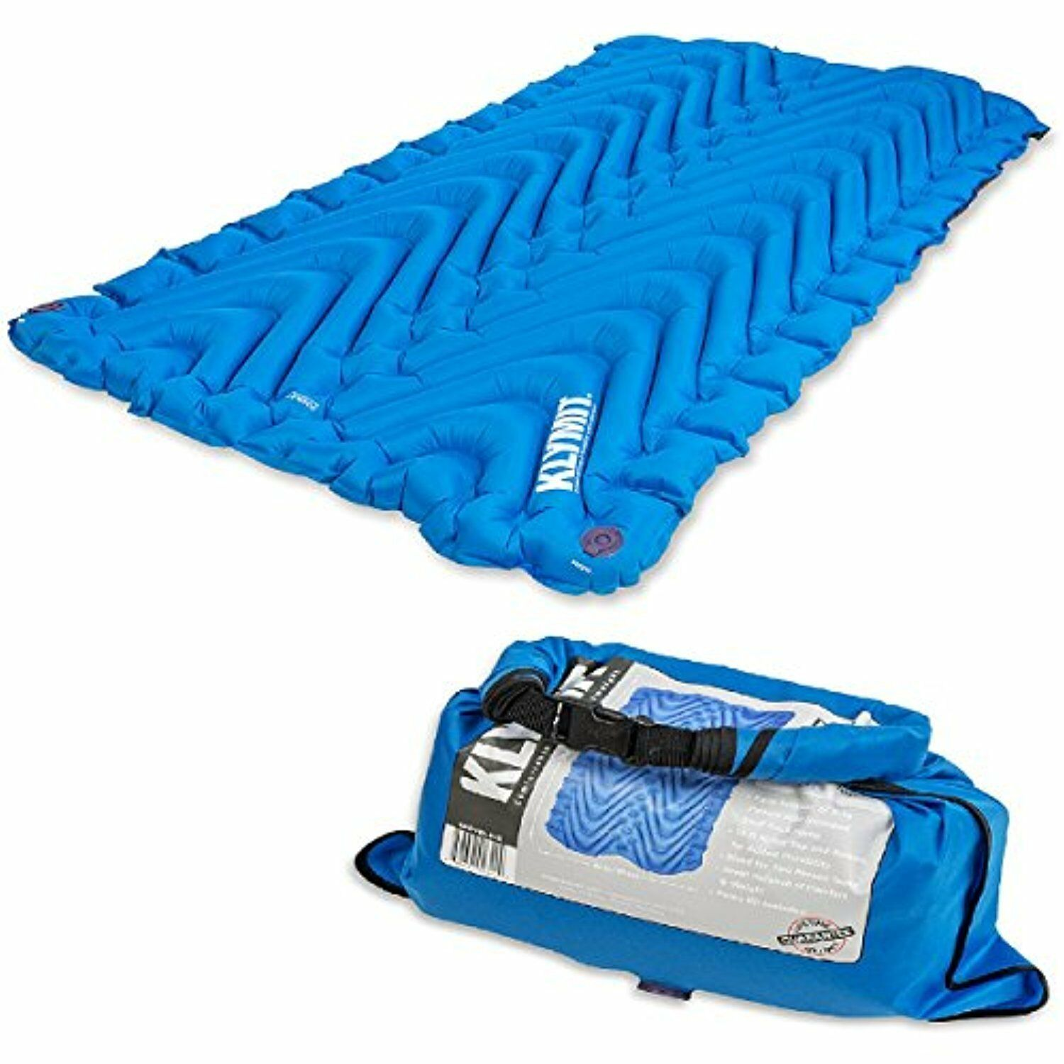 KLYMIT Static Double V Sleeping Pad Two-person Camping Travel bluee Mat BRAND NEW