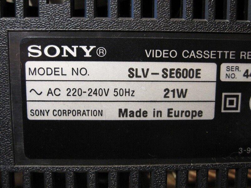 VHS videomaskine, Sony, SLV-SE600