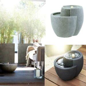 esteras brunnen led naturelite comallo 48x40x40cm outdoorbrunnen rund emsa ebay. Black Bedroom Furniture Sets. Home Design Ideas