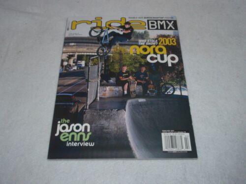 NOS ORIGINAL BMX RIDE MAGAZINE FEBRUARY 2003 VOL 81 12 ISSUE 2 NO
