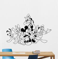 Mickey Minnie Mouse Donald Goofy Pluto Wall Decal Vinyl Sticker Art Mural 111crt