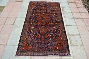 3-8-X-6-5-FT-Stunning-Floral-Pattern-Shamsabad-Afghan-Tribal-Carpe-Wall-Hanging