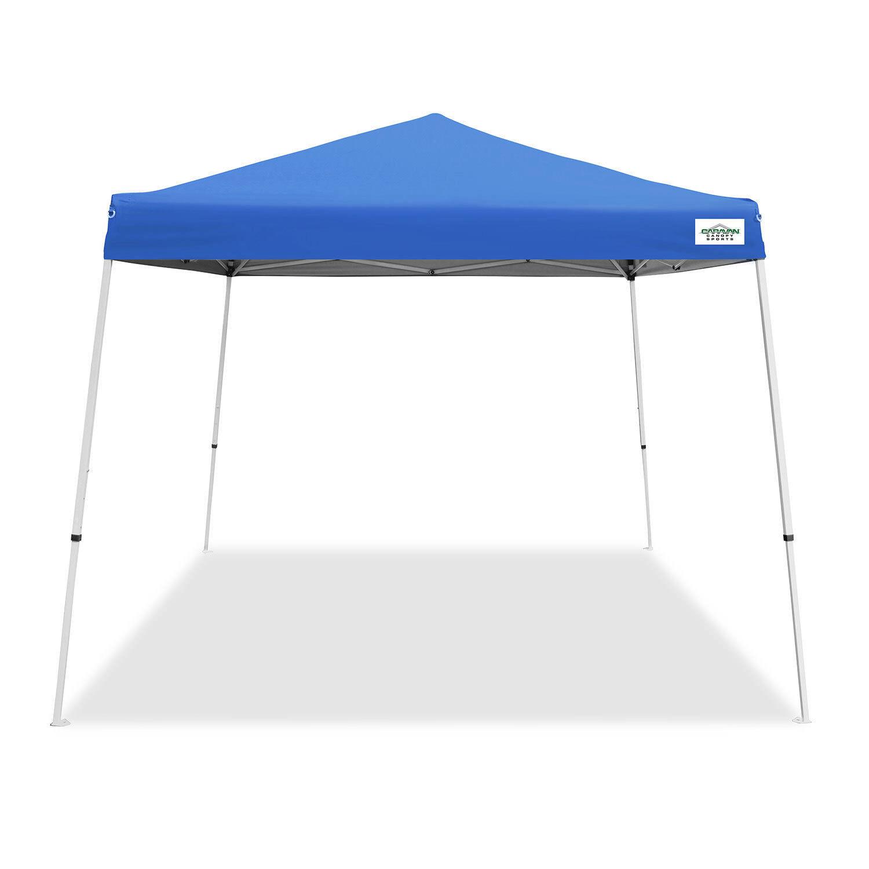 Caravan Canopy V Series 2 10' x 10' Entry Level Angled Leg Instant Canopy, Blau