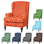 INSMA-Stretch-Wing-Chair-Cover-Slipcover-Wingback-Armchair-Furniture-D miniature 1