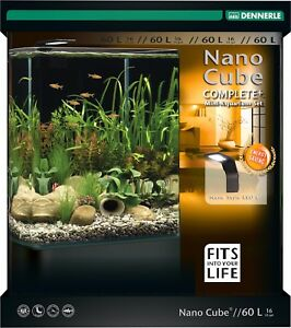 dennerle nano cube 60l complete aquarium tank with substrate led