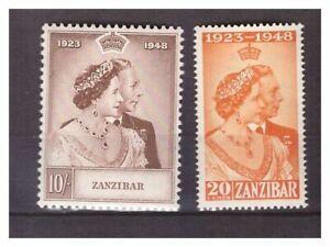 s19711-ZANZIBAR-1948-MNH-Silver-wedding-2v