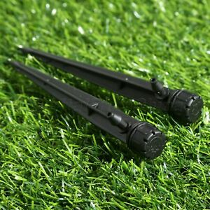 10//50pcs Irrigation Adjustable Emitters Micro Bubbler Stake Water Flow Dripper
