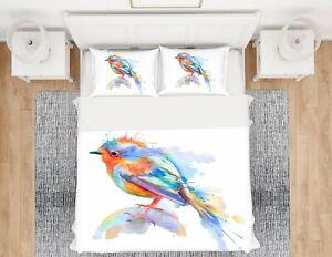 3D Color Bird ZHUA735 Bed Pillowcases Quilt Duvet Cover Set Queen King Zoe