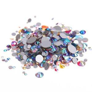 814cd22c96 AB flat back non hotfix rhinestones flatback glass stones 3d nail ...