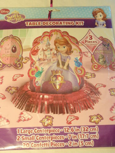 Disney Sofia the First Princess Party Supplies Birthday Table Decorating Kit