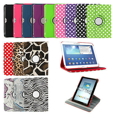 For Samsung Galaxy Tab E A Lite 2 3 4 360 Leather PU Rotating Folio Case Cover
