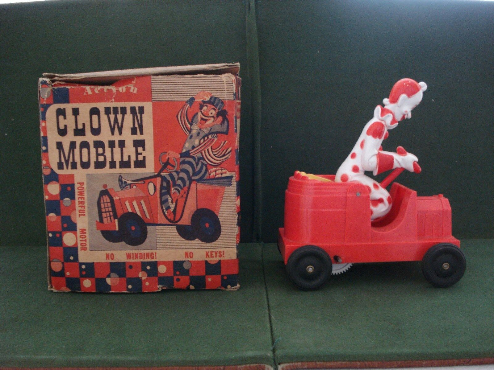 1952 MATTEL CLOWN MOBILE WITH BOX, TOUGH TO FIND TOY