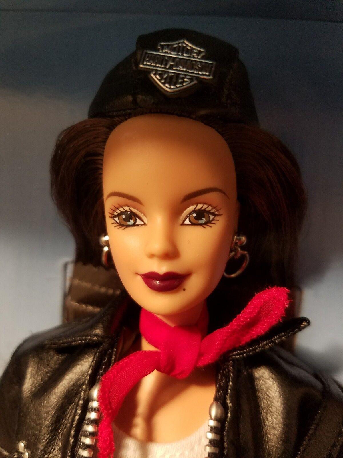 Harley-Davidson Barbie Toys R Us Exclusive tercero en una serie Morena 1998 Como Nuevo