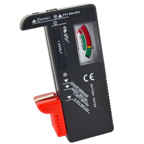 Universal Checker Tester batería AA AAA C D 9v Y Pilas De Botón voltios te247