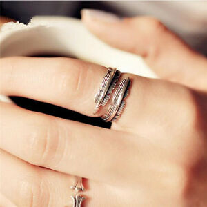 1-Pc-Vintage-Feather-Arrow-Opening-Rings-For-Women-And-Men-Silver-Jewelry-SR
