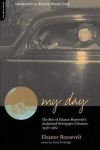 MY-DAY-by-Eleanor-Roosevelt-David-Emblidge-FREE-SHIP-paperback-book-newspaper