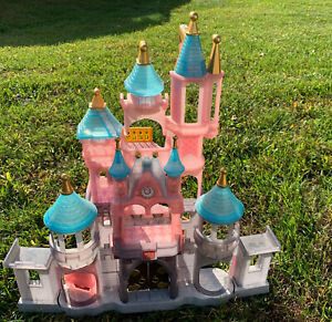 Disney Parks Castle Princess Dollhouse Playset Light Up Cinderella Rare Elevator