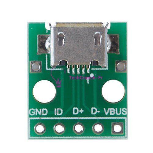 10pcs Micro USB Female to DIP 5 Pin Adapter Converter 2.54mm PCB Board DIY Power