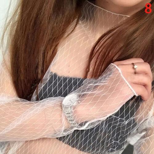 Damen Crop Top Lady Schwarz Mesh Spitze Netzstrumpfhose Stretch Weste Heiß