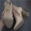 thumbnail 6 - Women's NEW Beige Nude Patent Latex Pyrex Heels Boots, US Size 8