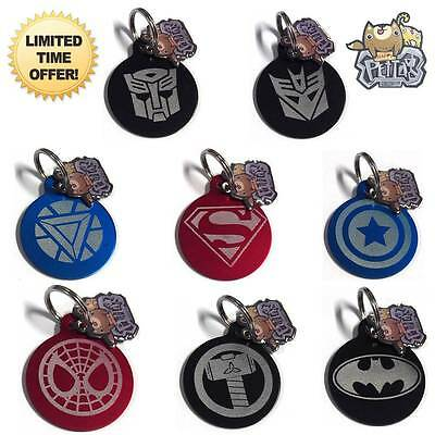 Happy Pet Tag Personalized Superhero Dog Cat Pets ID Tags Double Side Engraved !