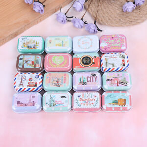 Mini-tin-trinket-jewelry-coin-box-tinpla-storage-case-small-rectangular-randomFR