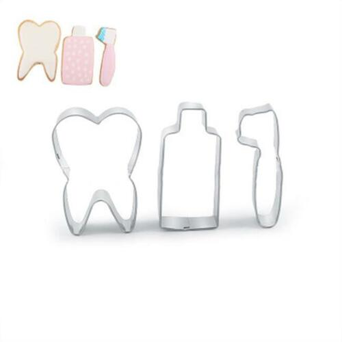 Stainless Steel Cake Biscuit Cookie Cutter Mold Toothpaste Tooth Baking Mould CO