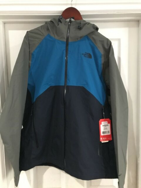 2f5bbcf9e North Face STRATOS Mens Jacket Coat - Urban Navy Banff Blue FUSEBOX Grey  Large