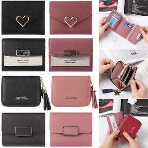 Women-PU-Leather-Small-Wallets-Coin-Clutch-Card-Holder-Rivet-Short-Purse-New