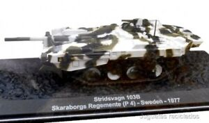 STRIDSVAGN-103B-SKARABORGS-REGEMENTE-SWEDEN-TANQUE-TANK-1-72-IXO-ALTAYA-DIECAST